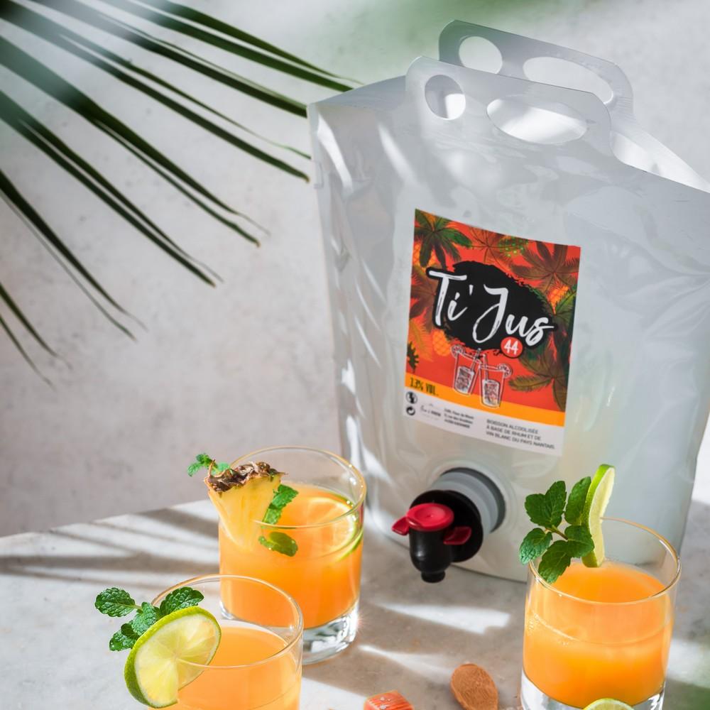 Cocktail planteur Ti'Jus en Pouch-up
